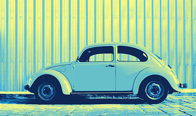 Sheet Metal Photograph - Beetle Pop Sky by Laura Fasulo