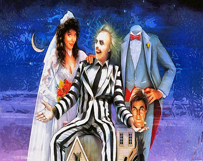 Painting - Beetlejuice by Joe Misrasi