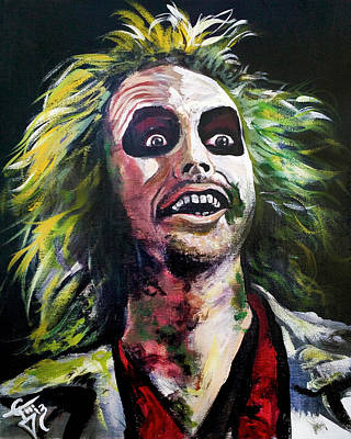 Tom Carlton Painting - Beetlejuice by Tom Carlton