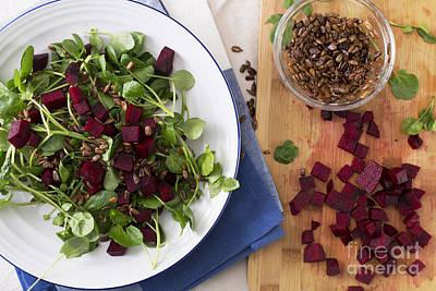 Watercress Photograph - Beetroot Watercress Salad by Charlotte Lake