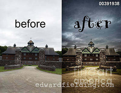 Weathervane Photograph - Before And After by Edward Fielding