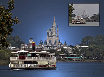 Before And After Sample Art 38 Ferry Boat Magic Kingdom  Art Print by Thomas Woolworth