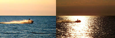 Summer Photograph - Before And After Sunset by Micheal Marciante