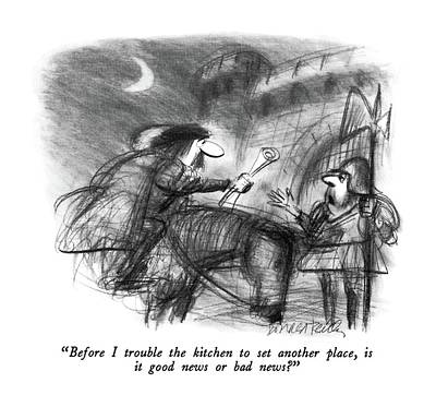 New Castle Drawing - Before I Trouble The Kitchen To Set Another Place by Donald Reilly