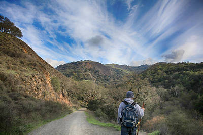 Hiker Photograph - Before My Eyes by Laurie Search