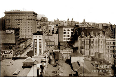 Photograph - Nob Hill From Flood Building Before San Francisco Earthquake And Fire Of April 18 1906 by California Views Mr Pat Hathaway Archives