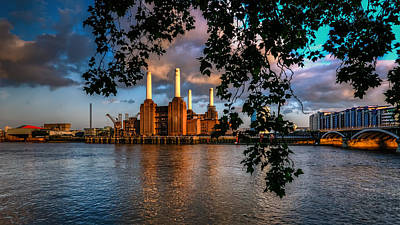 The Dark Knight Photograph - Before Sunset - Battersea Power Station by Mohsin Jamil
