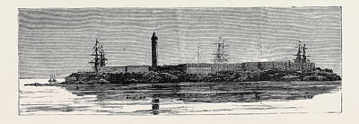 Lighthouse Drawing - Before The Bombardment Of Alexandria, July 7 by English School