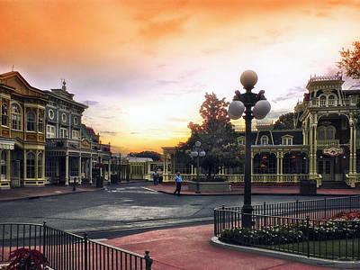 Casey Digital Art - Before The Gates Open Magic Kingdom Walt Disney World by Thomas Woolworth