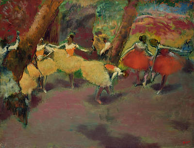 Before The Performance Print by Edgar Degas