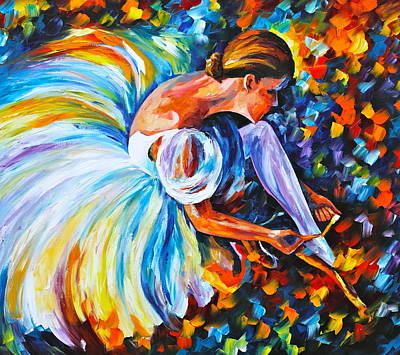 Before The Show 2  Print by Leonid Afremov