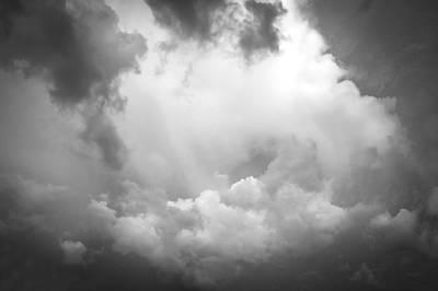 Photograph - Before The Storm Clouds Stratocumulus Bw 7 by Rich Franco