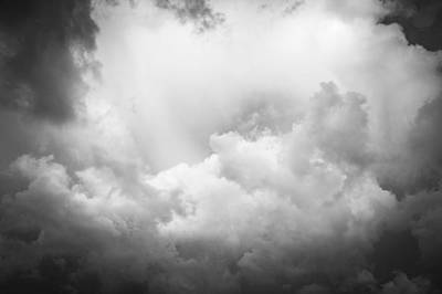 Photograph - Before The Storm Clouds Stratocumulus Bw 8 by Rich Franco