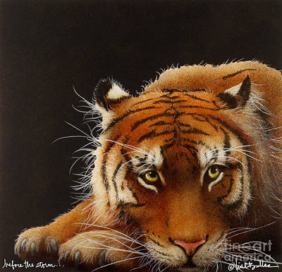 Bengal Tiger Painting - Before The Storm... by Will Bullas