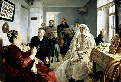 Bridal Gown Painting - Before The Wedding by Illarion Mikhailovich Pryanishnikov