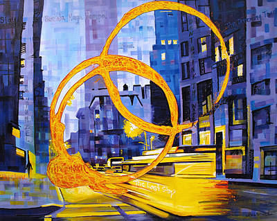 The Dave Matthews Band Painting - Before These Crowded Streets by Joshua Morton