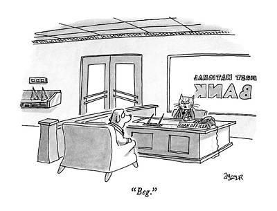 Beg Art Print by Jack Ziegler