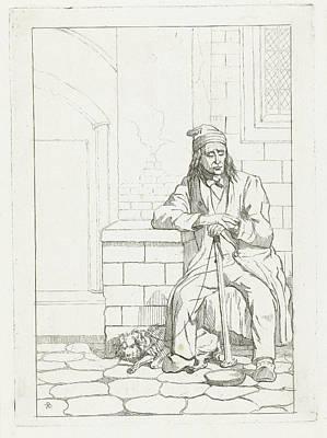 Beggar With Dog, Karel Frederik Bombled Art Print