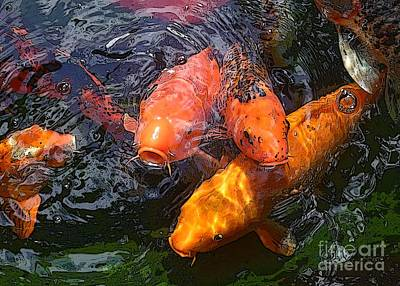 Photograph - Begging Koi 2 by Barbie Corbett-Newmin
