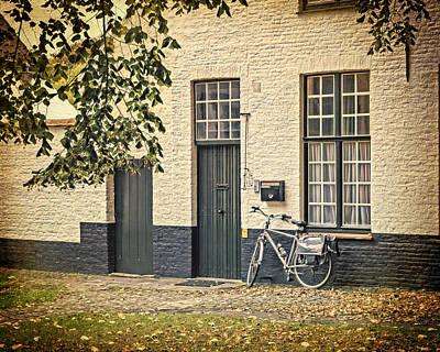 Belgium Photograph - Begijnhof Bicycle by Joan Carroll