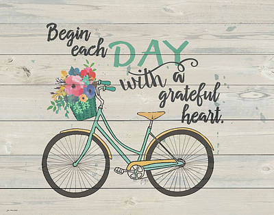 Gratitude Painting - Begin Each Day by Jo Moulton