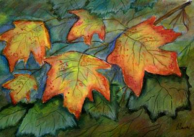 Painting - Beginning Fall  Leaves by Belinda Lawson