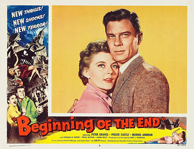 Playbill Photograph - Beginning Of The End 1957 by Mountain Dreams