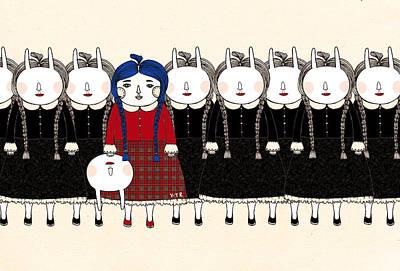 Figures Mixed Media - Beginning by Yoyo Zhao