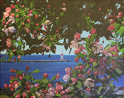 Painting - Beginnings Of Summer At The Waterfront by Wendy Shoults