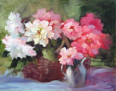 Begonias Original by Karin  Leonard