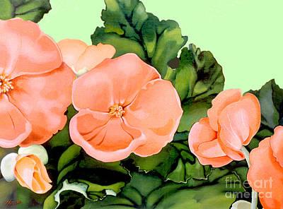 Begonias Art Print by Patricia Howitt
