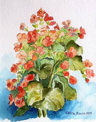 Painting - Begonias Still Life by Geeta Biswas