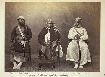 Aristocrat Photograph - Begum Of Bhopal And Her Ministers by British Library