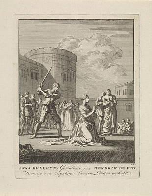 Beheading Of Anne Boleyn, 1536, Jan Luyken Art Print by Quint Lox