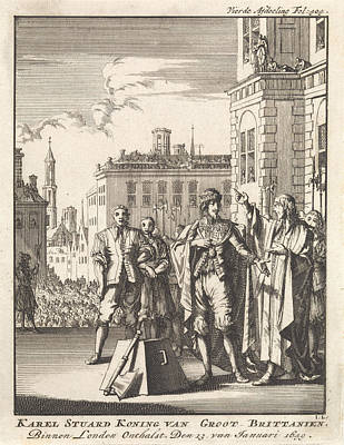 Beheading Of Charles I, King Of England, London Art Print by Jan Luyken And Jan Claesz Ten Hoorn