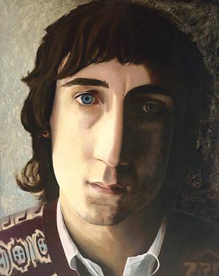 Pete Townshend Celebrity Painting - Behind Blue Eyes by Jena Rockwood