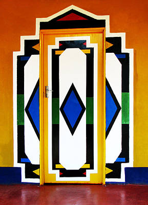 Moroccan Digital Art - Behind Coloured Doors by Tina Pitsiavas