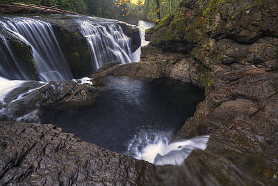 Pacific Northwest Photograph - Behind Lower Lewis River Falls by Mark Kiver