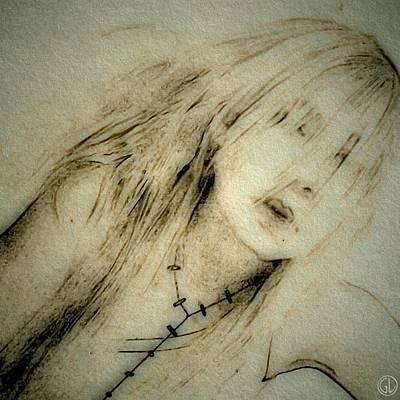 Hiding Digital Art - Behind My Curtain by Gun Legler