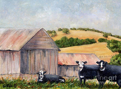 Painting - Behind The Barn by Terry Taylor