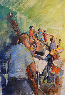Behind The Big Band Original by Podi Lawrence