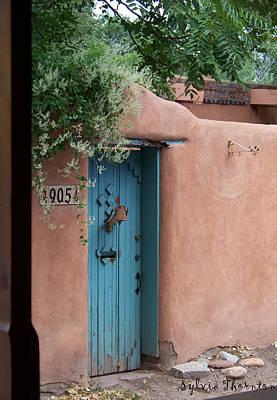 Art Print featuring the photograph Behind The Blue Door by Sylvia Thornton