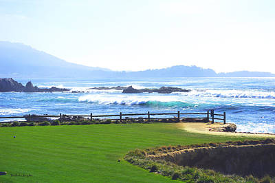 White Cap Digital Art - Behind The Blues On 18 At Pebble by Barbara Snyder