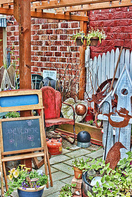 Yard Sale Digital Art - Behind The Boutique by Cathy Anderson