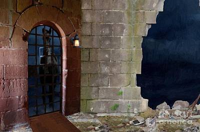 Thunder Painting - Behind The Castle Walls by Liane Wright