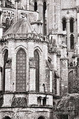 Chartres Photograph - Behind The Cathedral by Olivier Le Queinec