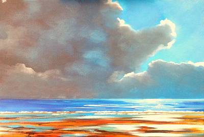 Vikki Painting - Behind The Clouds by Vikki Hastings