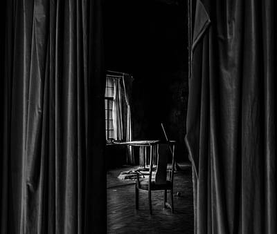 Photograph - Behind The Curtain by David Mcchesney
