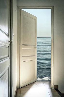 Open Door Photograph - Behind The Door by Christian Marcel