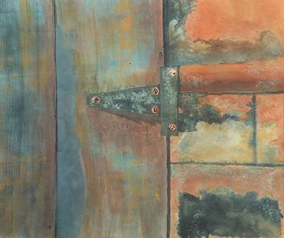 Representative Abstract Mixed Media - Behind The Door by David Raderstorf